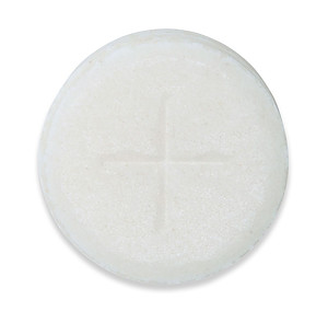 Peoples Altar Breads Single Cross Sealed Edge - White - Pack of 500