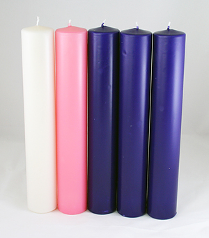 Purple, Pink and White Advent Candle Set (2