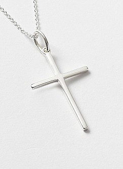 Silver Plain Cross Pendant