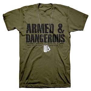 Dogtags T Shirt: Green, Adult XLarge