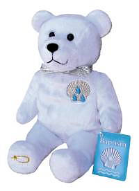 Baptism Purity Holy Bear - White