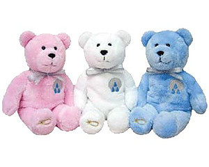 Baptism Purity Holy Bear - Pink