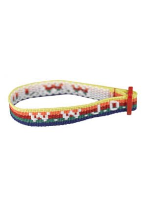 Multi Colour WWJD WristStraps Pack of 6