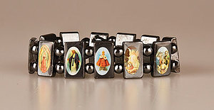 Glass Elasticated Saints Bracelet