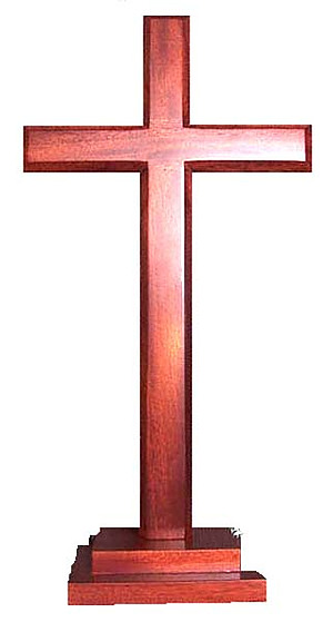 Plain Standing Cross With Stepped Base 16""