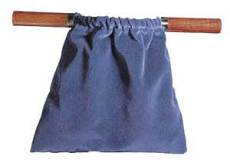 Offering Bag - Dark Blue with Hardwood Handles