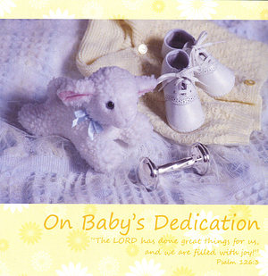 On Baby's Dedication - Single Card