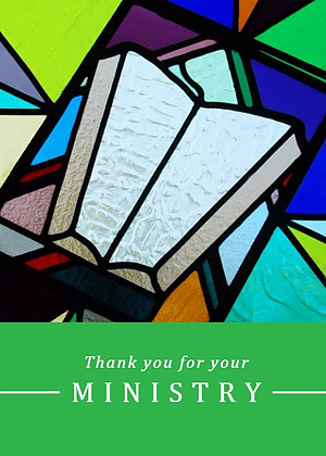 Thank You for Your Ministry Single Card