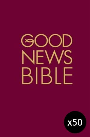 Good News Bible Burgundy, Hardback Pack of 50