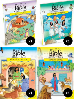 Mini Bible Sticker Books Value 6 Pack