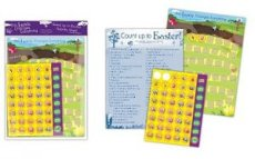 Count Down to Easter Activity Card and Stickers Pack of 12