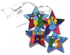 Stained Glass Star Decoration Value Pack