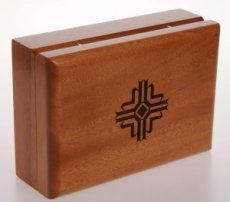 Wooden Wafer Box with Cross