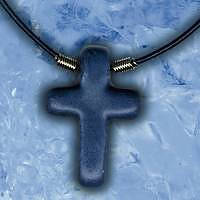Blue Ceramic Cross Necklace Pack of 3