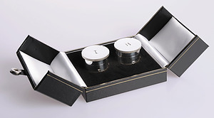 Holy Oil Stocks Silver Plated Double Engraved with I and B