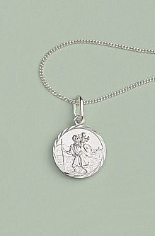 St Christopher Pendant: Silver