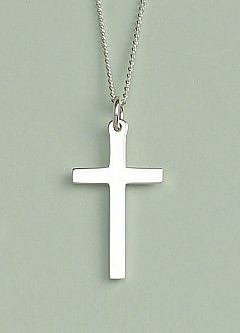 Solid Cross Pendant: Silver, Small