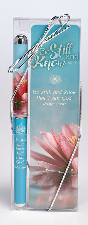 Be Still and Know Bookmark and Pen Set