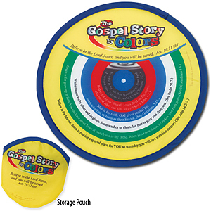 Gospel Story by Colors Flying Disc with Storage Pouch