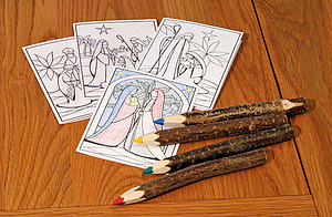 20 Colouring Cards