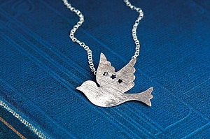 Brushed Dove of Peace Necklace
