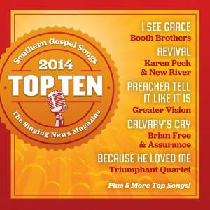 Singing News Top Ten Southern Gospel Songs of 2014