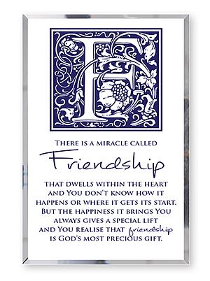 Friendship Glass Plaque