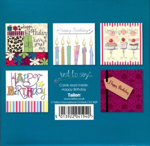 Handmade Birthday Cards - Pack of 5 | Free Delivery @ E