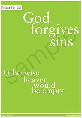 God forgives sins Poster