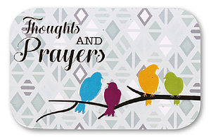 Pocket Tin Prayer & Thoughts Box with Memo Pad and Pencil