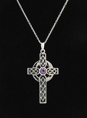 Amethyst Celtic Cross