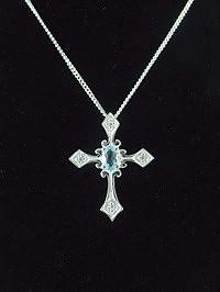 Blue Topaz Cross