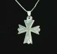 Mother of Pearl 3 Point Cross