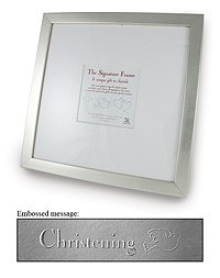 Signature Photograph Frame - Christening
