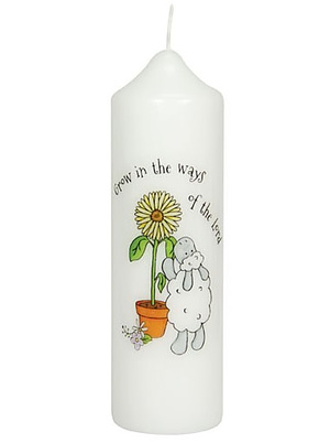 Grow in the Ways of the Lord - Baptism Candle