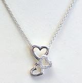 Cubic Zirconia Trio Heart Pendant