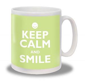 Keep Calm and Smile Mug