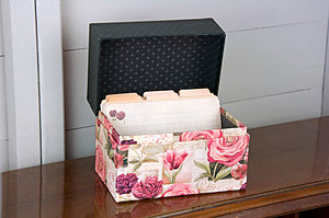 Summer Garden - Recipe Box