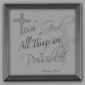 With God All Things Are Possible Silver Plaque