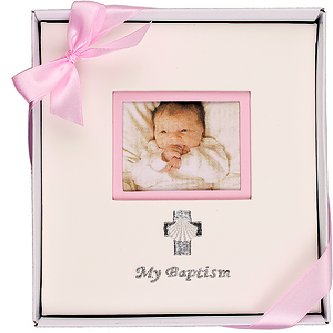 My Baptism Photo Album Pink