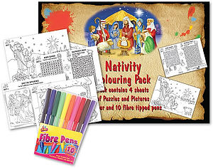 Nativity Colouring Pack and Pens