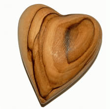 Olive Wood Prayer Heart