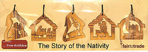 Set of 5 Decorations - Story of the Nativity