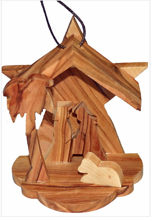 Hanging Nativity Scene Star