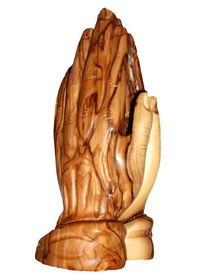 Holy Land Olive Wood Praying Hands - Large