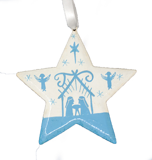 Silhouette Nativity Star Christmas Decoration