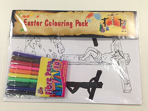 Easter Colouring In Pack and Pens - Single