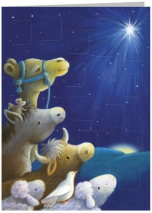 Animals Advent Calendar Card