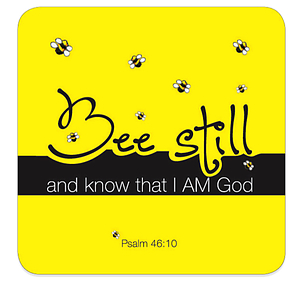 Bee Still Coaster
