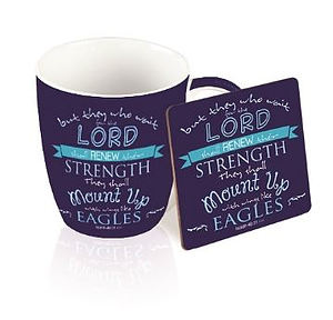 Eagles Isaiah 40:31 Mug and Coaster Set